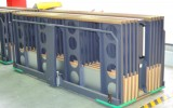 Plate trolley for for large format stacker